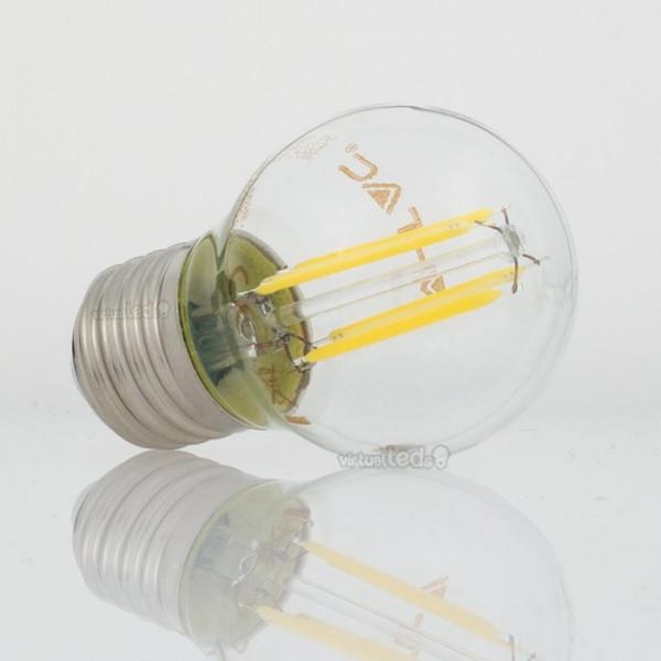 Bombilla led e27 4w 40w luz natural 400lm g45 clearglass - Bombilla luz natural ...