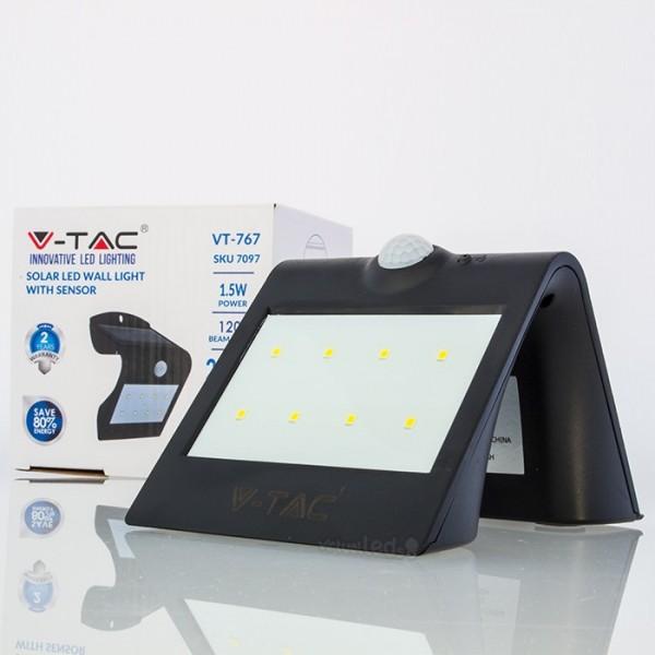 Aplique led solar c sensor pir 1 5w 200lm bb ip65 - Aplique solar exterior ...