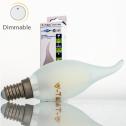 Bombilla LED E14 4w»35W L.Cálida 350Lm Vela-F FROSTglass DIM