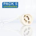 (PACK 5 unidades) Portalámparas CERAMIC GU10 V-TAC