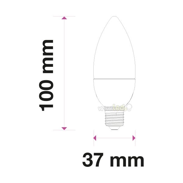 Bombilla led e27 luz natural 470lm vela virtualleds espa a - Bombillas luz natural ...