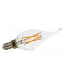 Bombilla LED E14 4w»30W 2700K 320Lm Vela-TF CLEARglass X DIM