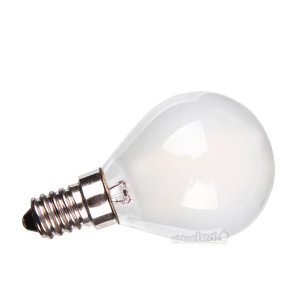 Bombilla led e14 4w 40w luz fr a 400lm p45 frostglass x for Bombilla casquillo fino