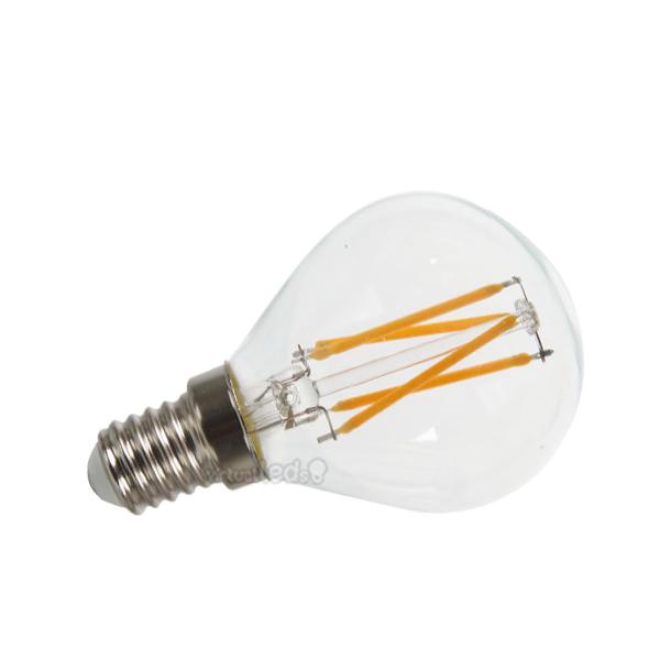 Bombilla led e14 4w 40w luz c lida 400lm p45 clearglass x for Bombilla casquillo fino