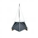 Lámpara de suspensión E27 NET PRISM Black