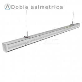 Regleta compacta LED MASTER TRUNKING 50W doble asimetrica
