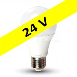 Bombilla LED E27 9W 4000K 806Lm  A60 - 24V