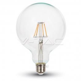 Bombilla LED E27 6W 806Lm G125 Filamento CLEARglass