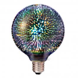 Bombilla LED E27 3000K 40Lm G125 FILAMENT 3D