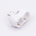 Adaptador con duplo enchufe 2x16A blanco
