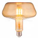 Bombilla LED E27 8W 2200K 620Lm T180 Vidrio Ámbar