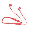 Auriculares Deportivos Bluethooth 500 mAh rojo