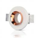 Aro GU10 fijo V-TAC GYPSUM blanco c/aro interior ROSE GOLD r