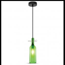 Lámpara de suspensión E14 BOTTLE Green