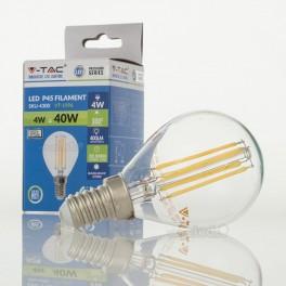 Bombilla LED E14 4w»35W Luz Cálida 400Lm P45 CLEARglass