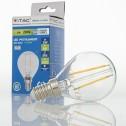 Bombilla LED E14 2w»20W Luz Cálida 210Lm P45 CLEARglass