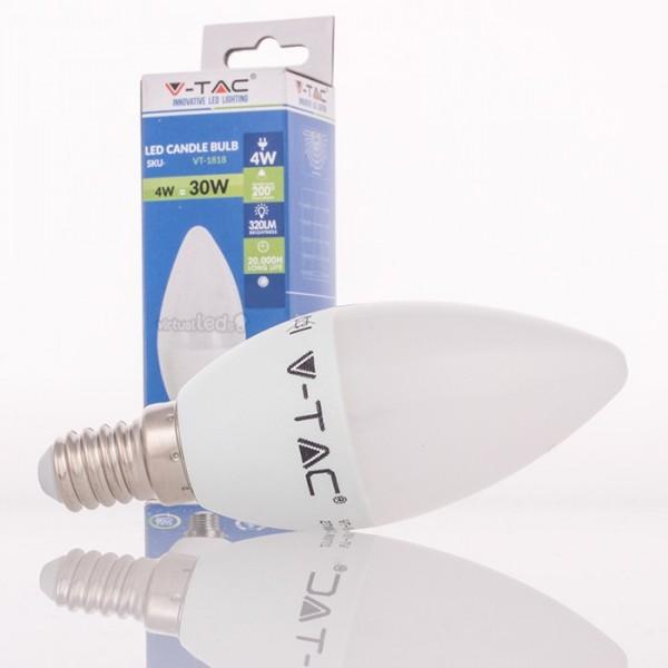 Bombilla led e14 4w 30w luz c lida 320lm vela for Bombilla casquillo fino