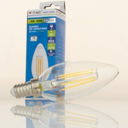 Bombilla LED E14 4w»40W Luz Natural 400Lm Vela CLEARglass