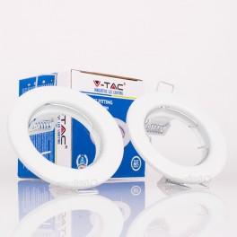 Aro GU10 fijo V-TAC redondo blanco (2 unidades)