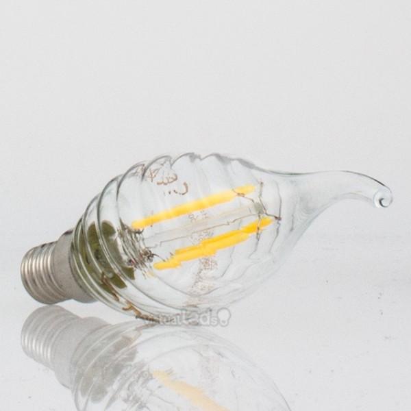 Bombilla led e14 4w 40w luz fr a 400lm vela tf clearglass for Bombilla casquillo fino