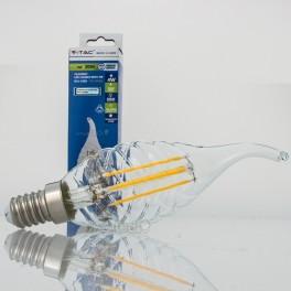 Bombilla LED E14 4w»30W L.Cálida 320Lm Vela-TF CLEARglass DI