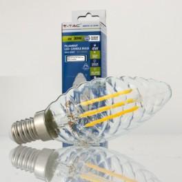 Bombilla LED E14 4w»30W LuzCálida 320Lm Vela-T CLEARglass DI