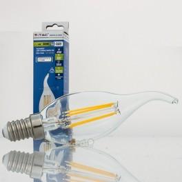 Bombilla LED E14 4w»30W L.Cálida 320Lm Vela-F CLEARglass D