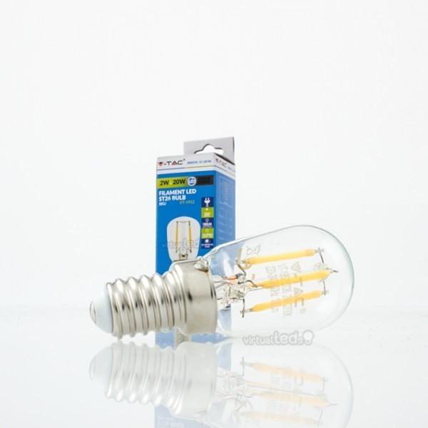Bombilla led e14 2w 20w luz fr a 180lm st26 filamento for Bombilla casquillo fino