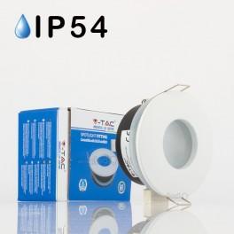 Aro empotrado GU10 IP54 redondo blanco