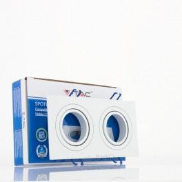 Aro GU10 x2 basculante V-TAC cuadrado blanco