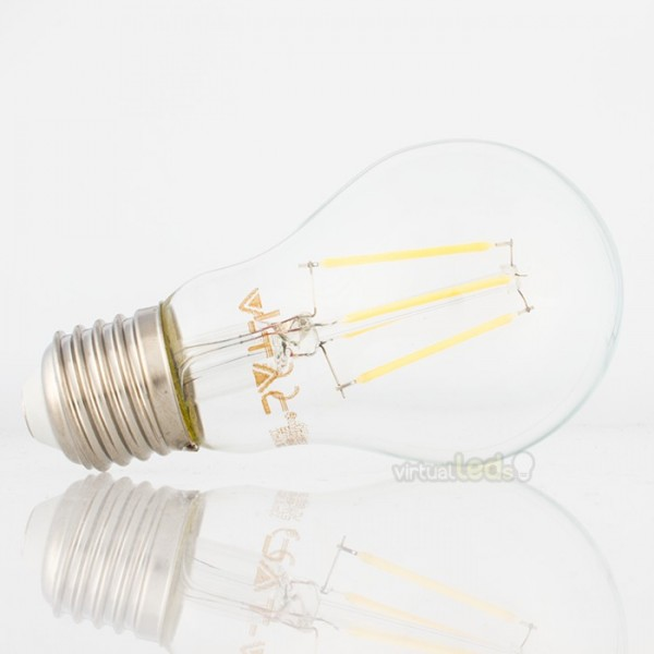 Bombilla led e27 4w 40w luz natural 400lm a60 clearglass - Bombilla luz natural ...