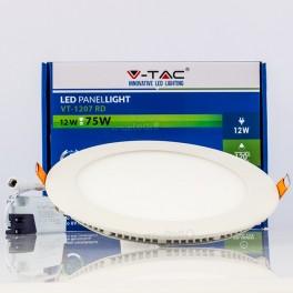 Panel LED SLIM 12W Luz Natural 1000Lm redondo