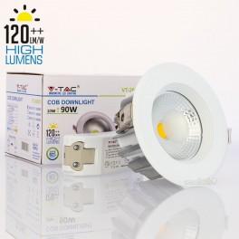 Foco Downlight LED 10w»90W Luz Fría 1.200Lm Hi