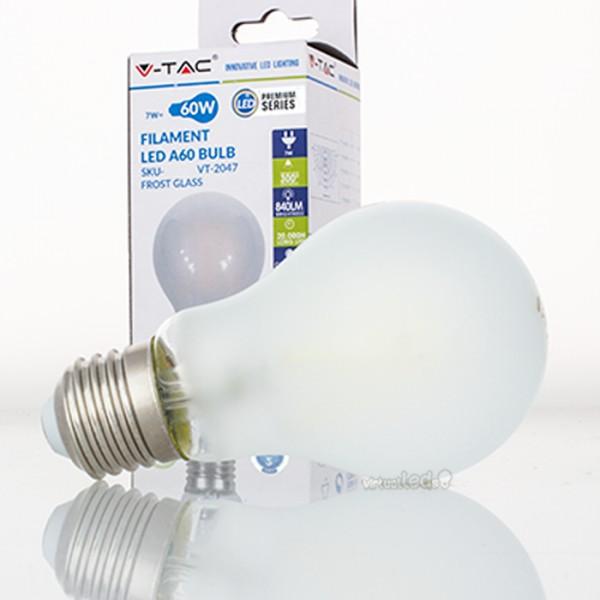 Bombilla led e27 7w 60w luz natural 840lm a60 frostglass - Bombilla luz natural ...