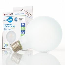 Bombilla LED E27 7w»60W Luz Cálida 840Lm G95 FROSTglass