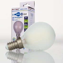 Bombilla led e14 4w 40w luz natural 400lm p45 frostglass virtualleds espa a - Bombillas luz natural ...