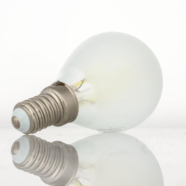 Bombilla led e14 4w 40w luz fr a 400lm p45 frostglass for Bombilla casquillo fino