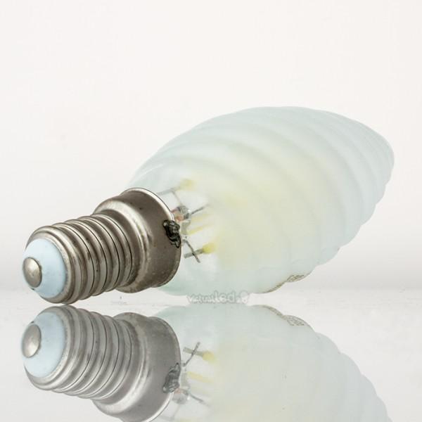 Bombilla led e14 4w 40w luz fr a 400lm vela t frostglass for Bombilla casquillo fino