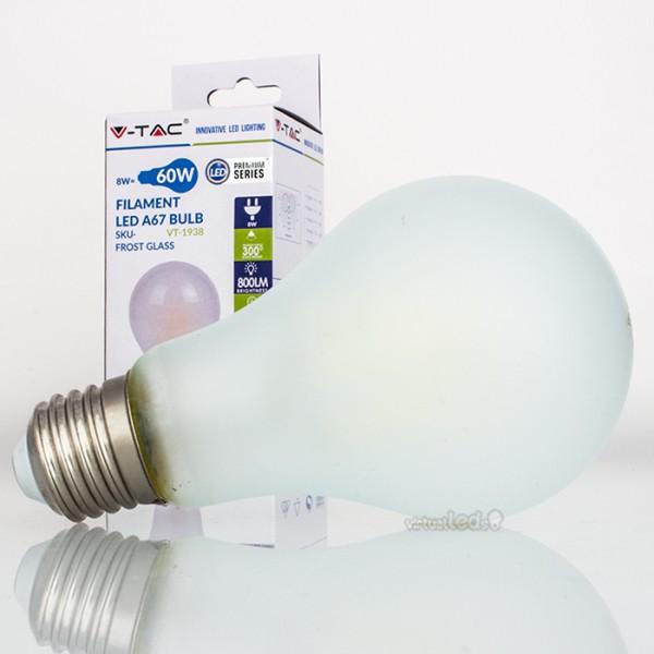 Bombilla led e27 8w 60w luz natural 800lm a67 frostglass - Bombilla luz natural ...