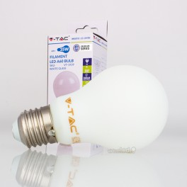 Bombilla LED E27 4W»35W Luz Cálida 350Lm A60 WHITEglass