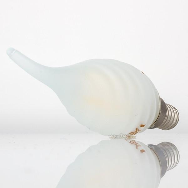 Bombilla led e14 4w 40w luz fr a 400lm vela tf frostglass for Bombilla casquillo fino