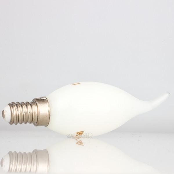 Bombilla led e14 4w 35w luz fr a 350lm vela f whiteglass for Bombilla casquillo fino