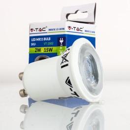 Bombilla LED GU10/MR11 2w»15W 38º Luz Fría 180Lm SPOT