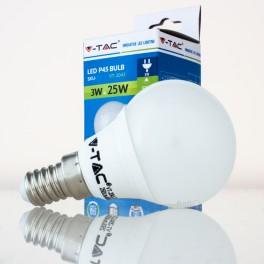 Bombilla LED E14 3w»25W Luz Fría 250Lm P45 GOLFBALL