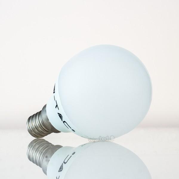 Bombilla led e14 4w 30w luz c lida 320lm p45 golfball for Bombilla casquillo fino