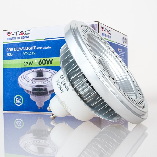 Bombilla led ar111 gu10 12w 60w 40 luz natural 650lm virtualleds espa a - Bombillas luz natural ...