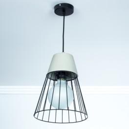 Lámpara de suspensión E27 CONCRETE & MESH d250mm