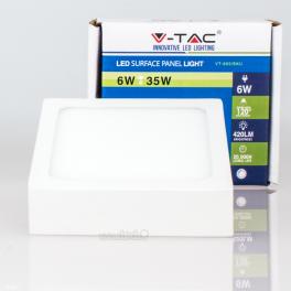Panel LED 6w»35W Luz Cálida 420Lm SLIM SURFACE Cuadrado