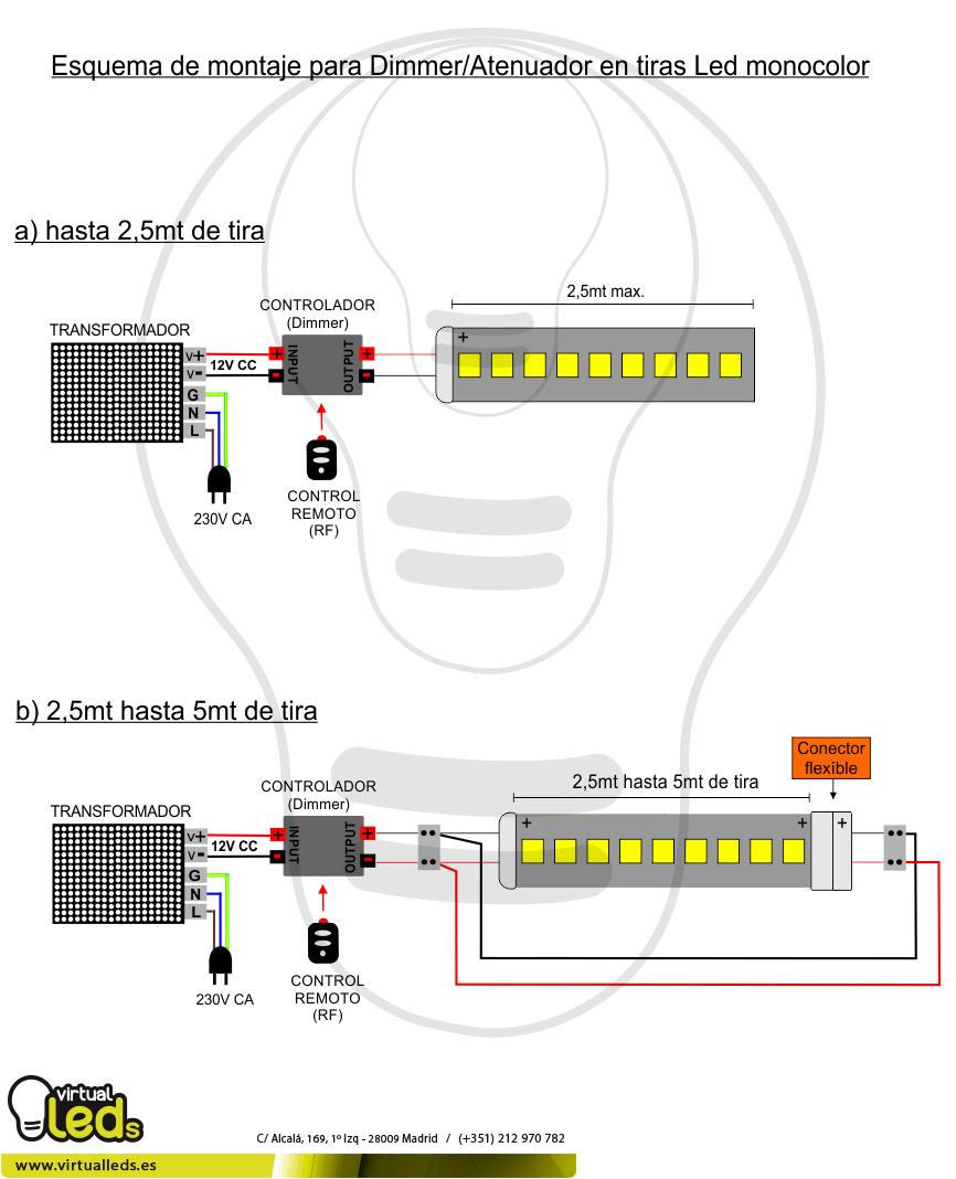 Esquema-de-montaje-para-Dimmer-Atenuador-en-tiras-módulos-Led-12v-monocolor