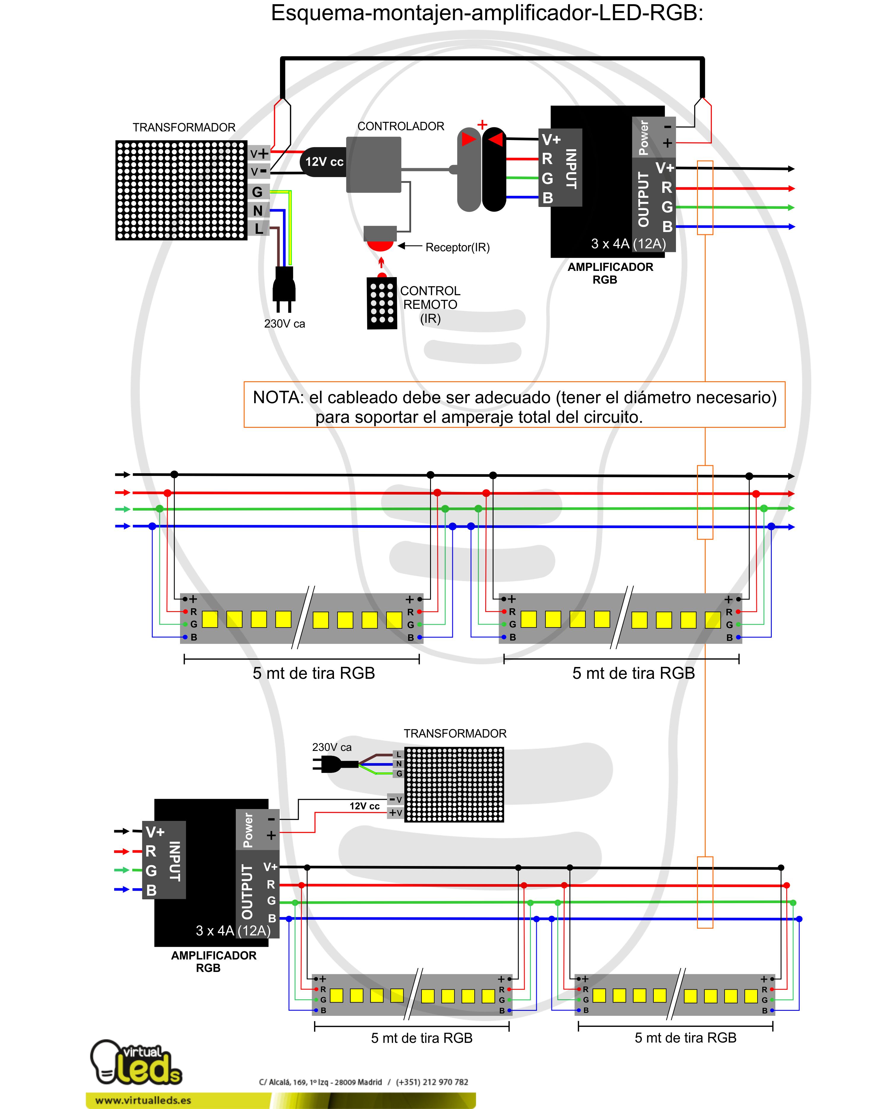 Esquema-montajen-amplificador-LED-RGB